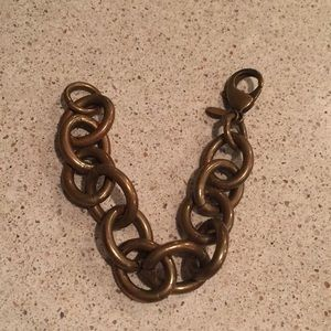 Neiman's We Dream in Colour bronze link bracelet